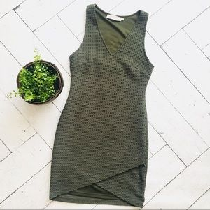 ASTR the label olive green pique bodycon dress